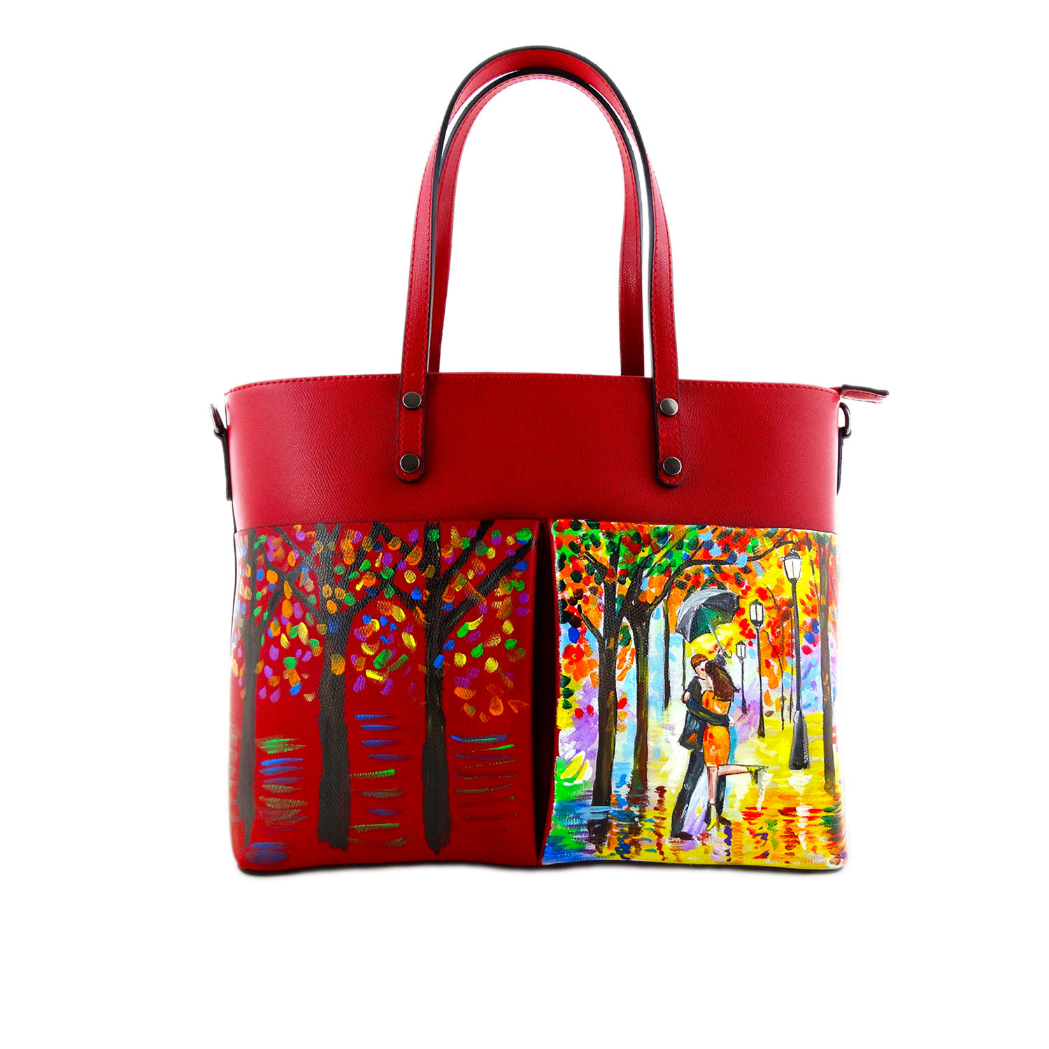 Hand painted bag - Tribute to lovers by Leonid Afremov