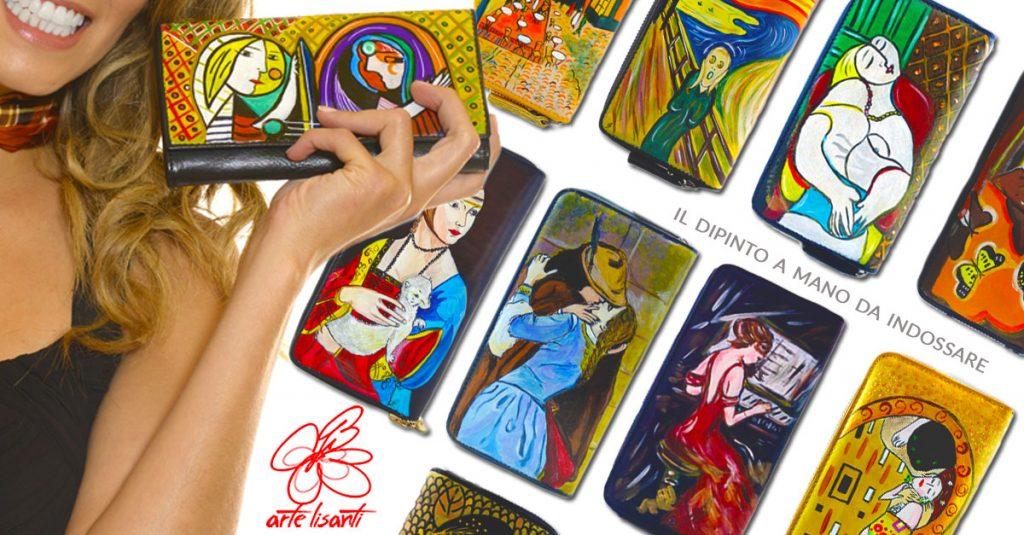 Portafogli dipinti a mano