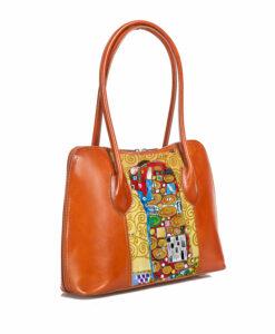 Borsa dipinta a mano - L'abbraccio di Klimt