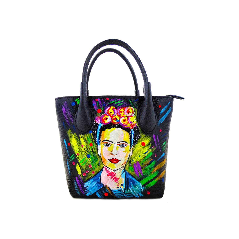 Borsa dipinta a mano – I love Frida Kahlo