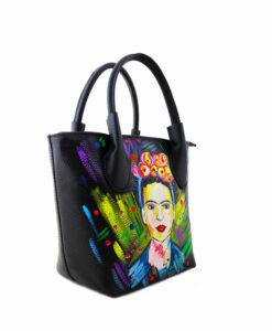 Hand painted bag - I love Frida Kahlo