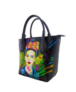 Hand painted bag - I love Frida Kahlo
