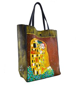 Hand painted bag - The Kiss by Klimt