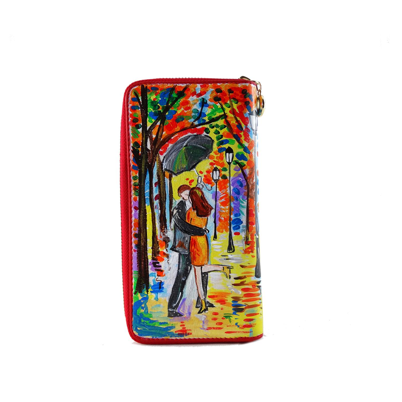 Portafoglio dipinto a mano – Omaggio agli innamorati di Leonid Afremov