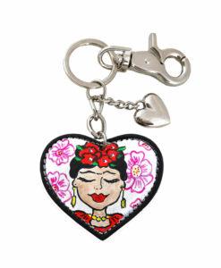 Portachiavi dipinto a mano : I Love Frida Kahlo
