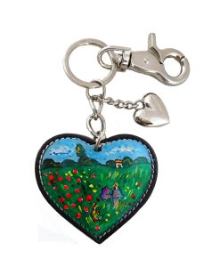 Hand painted keychain – Poppies by Monet