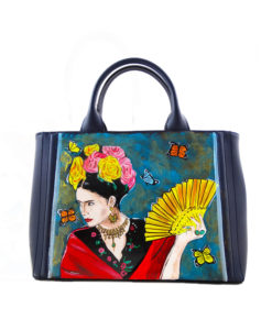 Hand painted bag - Homage to Frida Kahlo