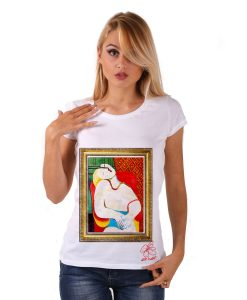 Hand-painted T-shirt - The dream by Picasso