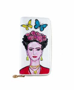 Portafoglio in pelle dipinto a mano – Mi Amor! Frida Kahlo
