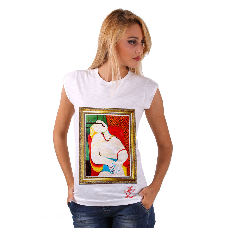 T-shirt dipinta a mano - Il sogno di Picasso