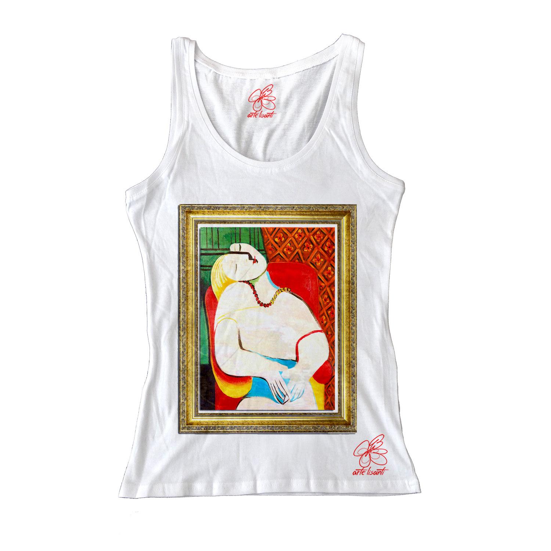 Canotta dipinta a mano - Il sogno di Picasso