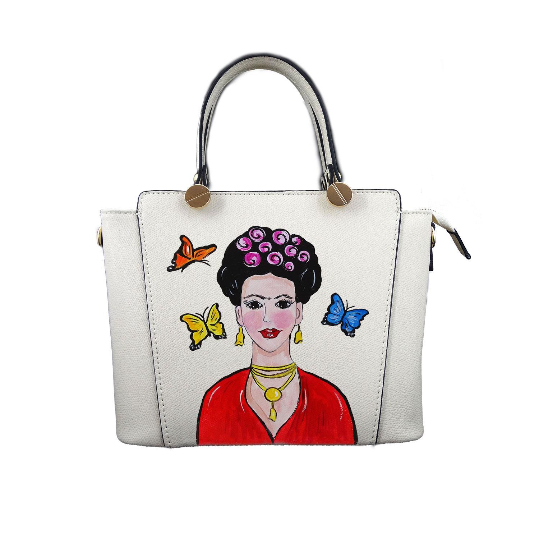 Borsa in pelle dipinta a mano – Mi Amor! Frida Kahlo