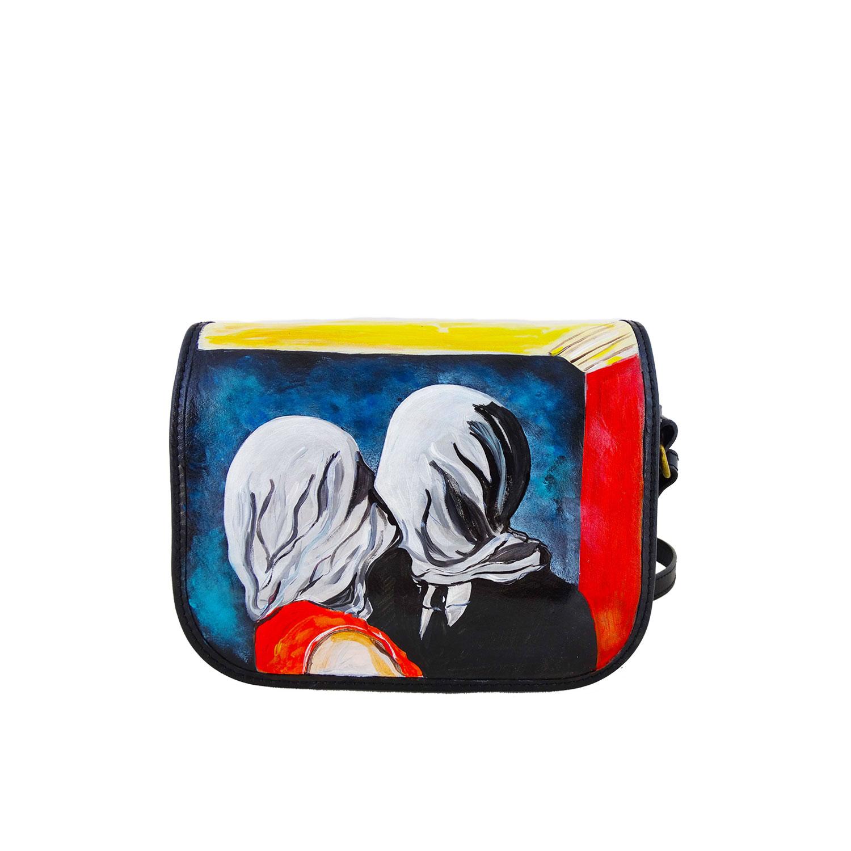 Borsa dipinta a mano – Gli amanti di René Magritte