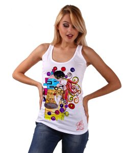 T-shirt - Omaggio al Bacio Appassionato di Sophie Vogel cartoon color