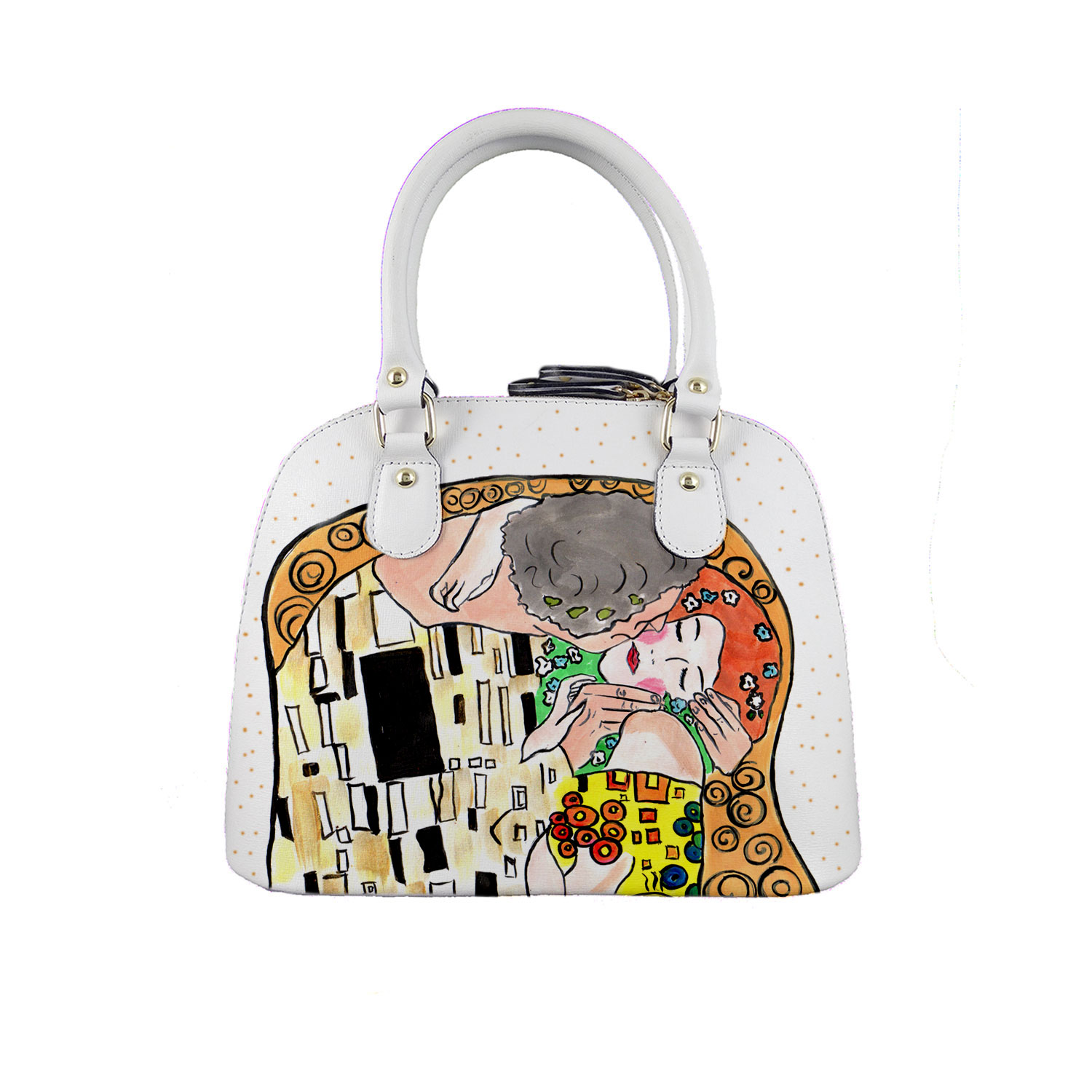 Borsa dipinta a mano – Il bacio di Klimt cartoon color