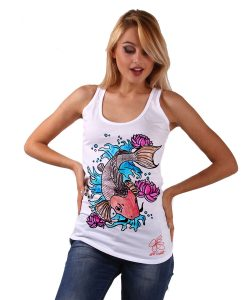 Hand-painted Tank top - Cat fish