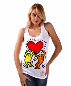 Canotta dipinta a mano - Omaggio a Keith Haring