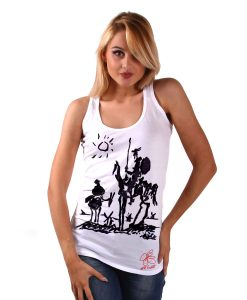 Hand-painted Tank top - Don Quixote of La Mancha by Picasso