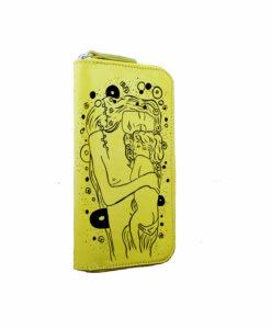 Portafoglio artigianale dipinto a mano – Il bacio di Klimt