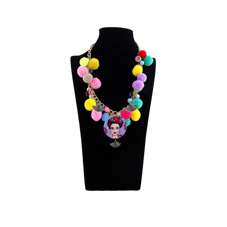 Collana dipinta a mano – Mi Amor! Frida Kahlo