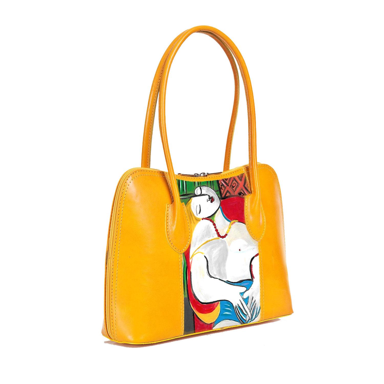 Borsa in pelle dipinta a mano - Il sogno di Pablo Picasso