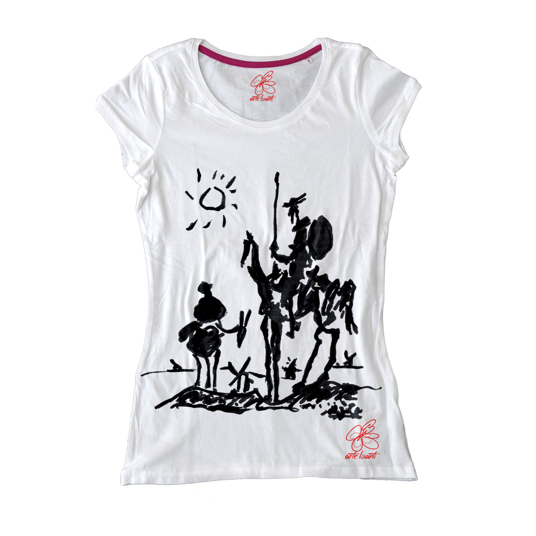 Maglietta dipinta a mano - Don Chisciotte della Mancia di Picasso