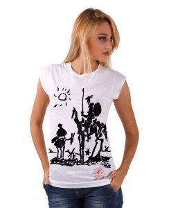 Hand-painted T-shirts - Don Quixote of La Mancha by Picasso