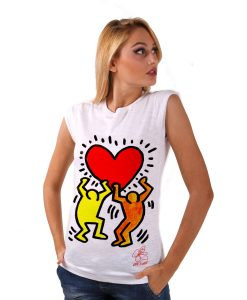 Hand-painted T-shirt - Tribute to Keith Haring
