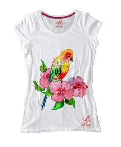 Maglietta dipinta a mano - Color bird