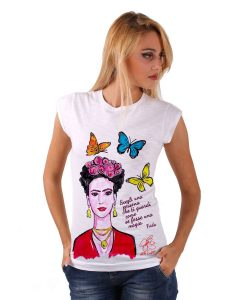 Hand-painted T-shirts - My love! Frida Kahlo