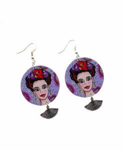 Orecchini dipinti a mano – Mi Amor! Frida Kahlo