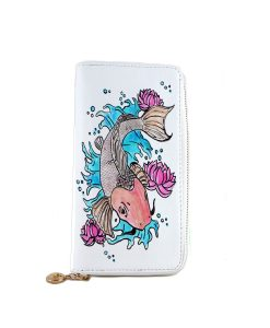 Hand painted wallet - Cat fish