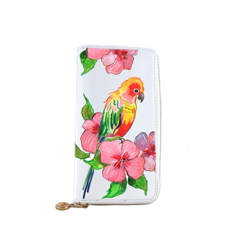 Portafoglio dipinto a mano – Color bird