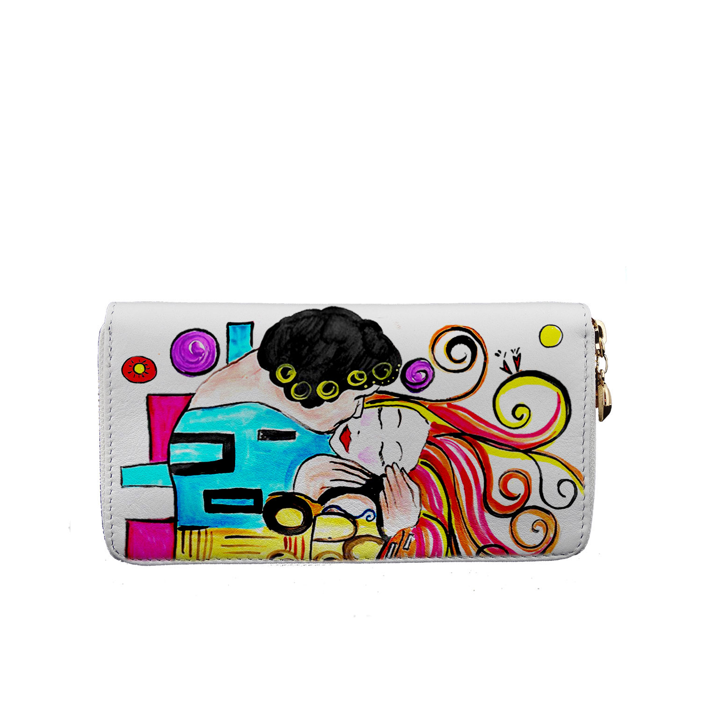 Portafoglio – Omaggio al Bacio Appassionato di Sophie Vogel cartoon color