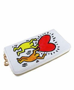 Portafoglio dipinto a mano – Omaggio a Keith Haring