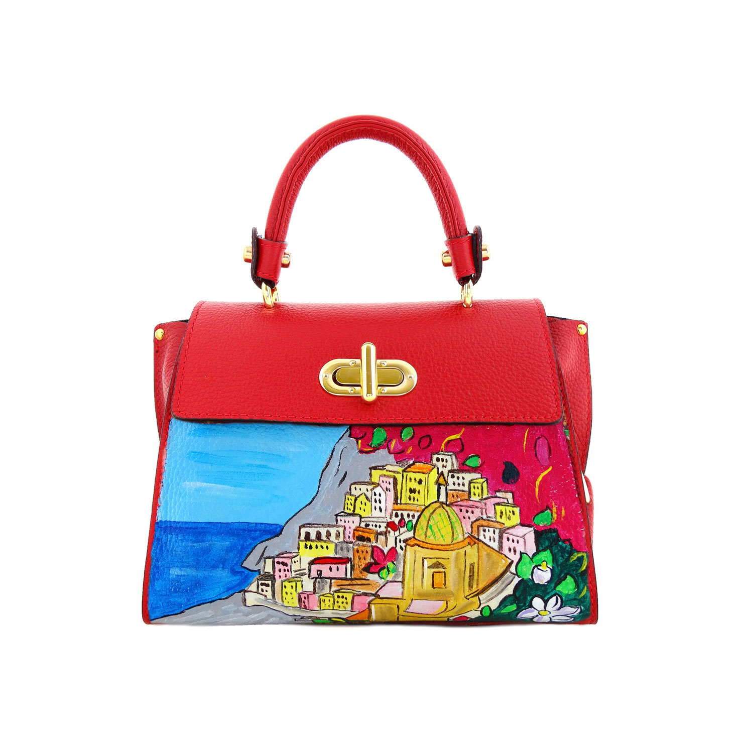 Handpainted bag - Positano
