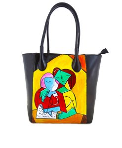 Hand-painted bag - Two girls reading by Picasso