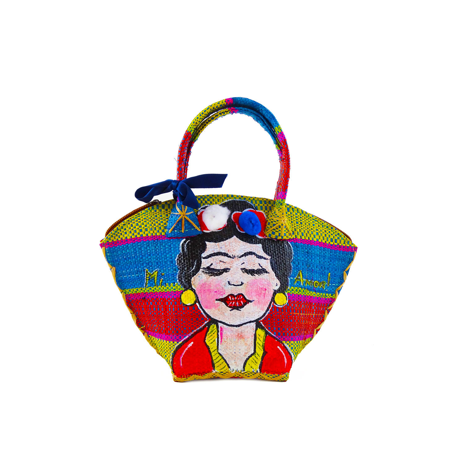 Hand-painted handbag - I Love Frida
