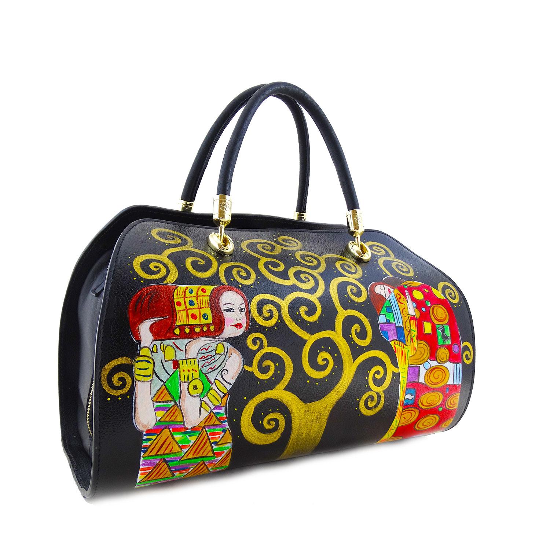 Borsa dipinta quadri famosi – L'albero della vita di Klimt