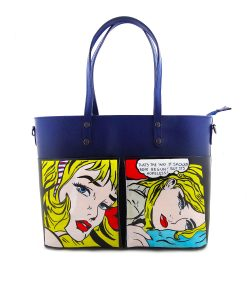 Hand-painted bag - Cartoons by Roy Lichtenstein