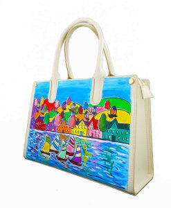 Handpainted bag - Summer landscape