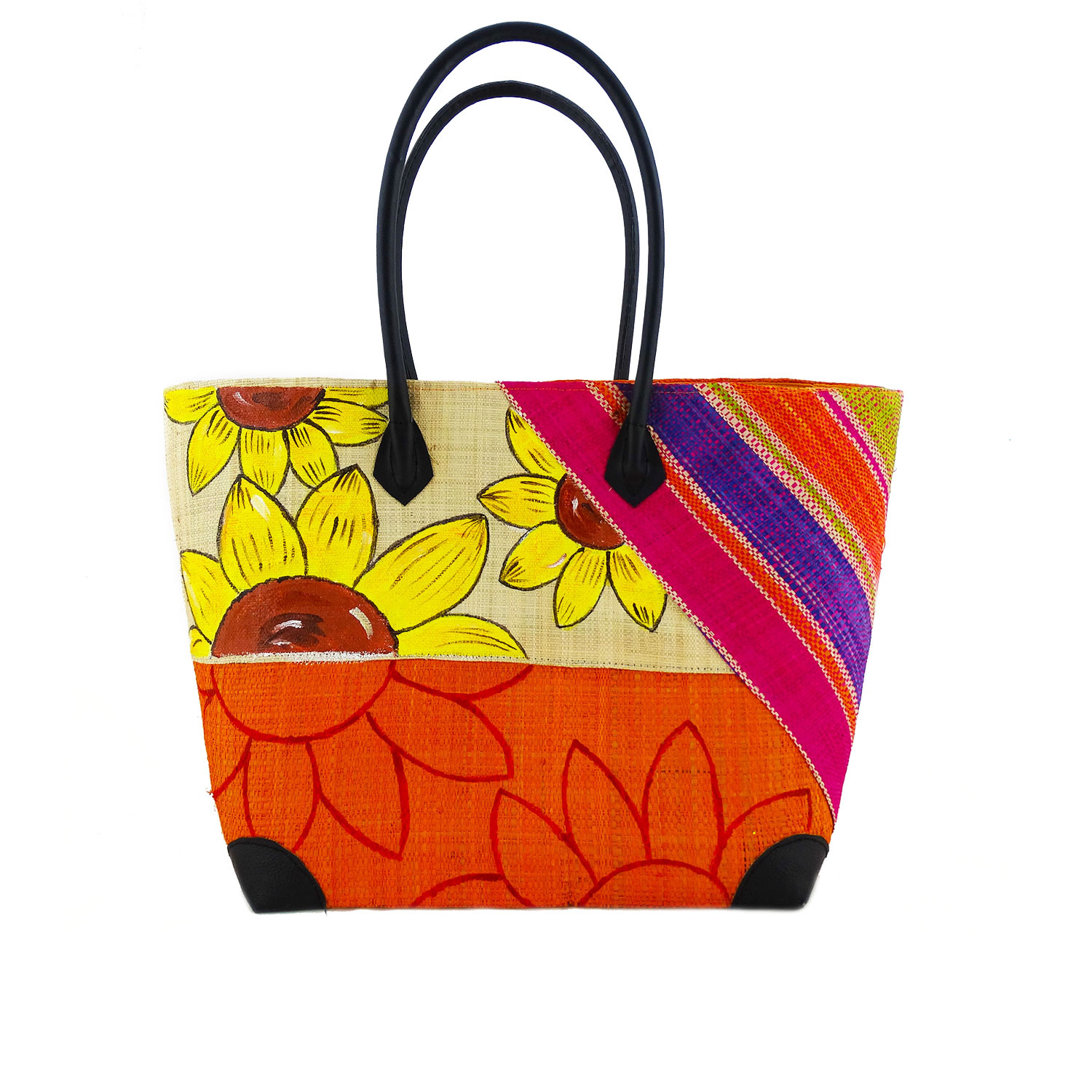 Handpainted bag - Sunflowers