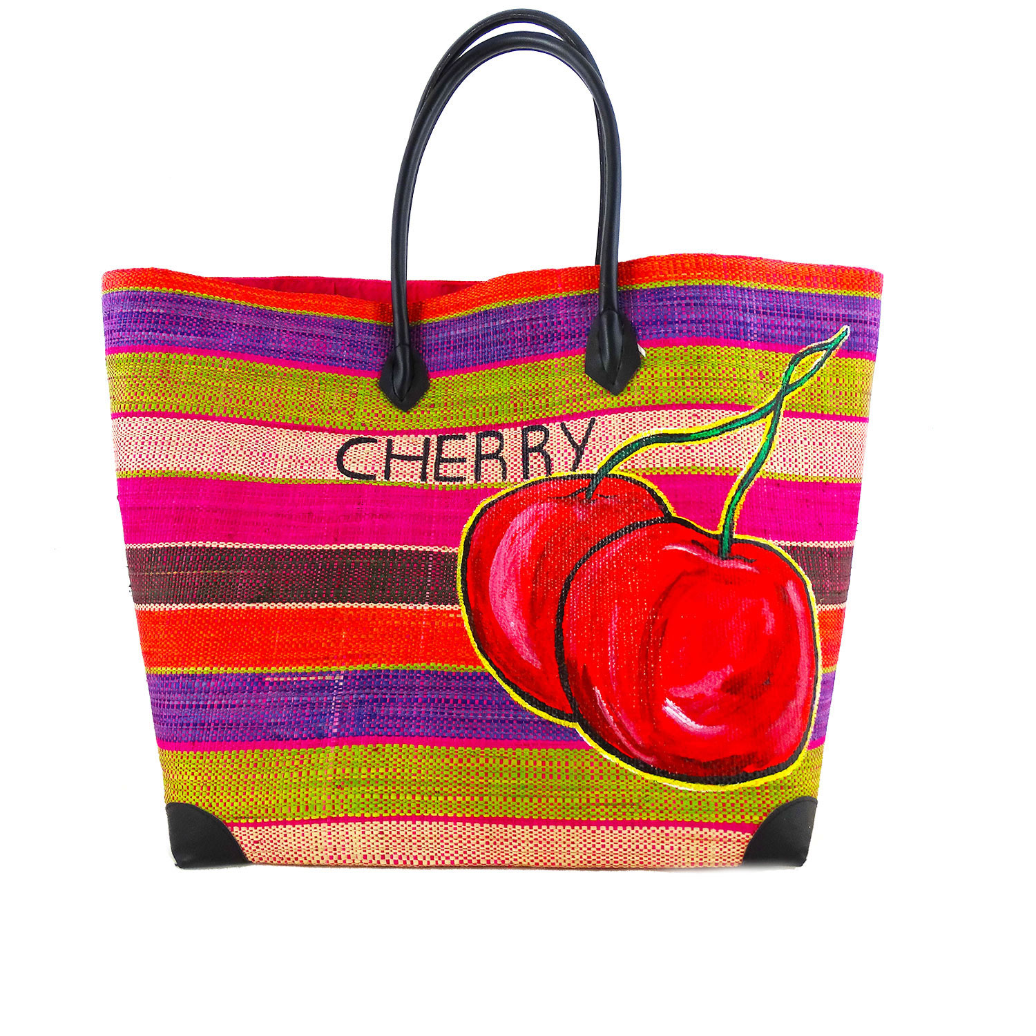 Handpainted bag - Cherry