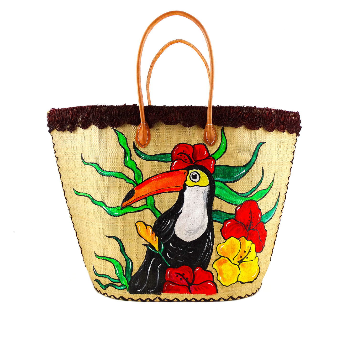 Hand-painted bag - Toucan
