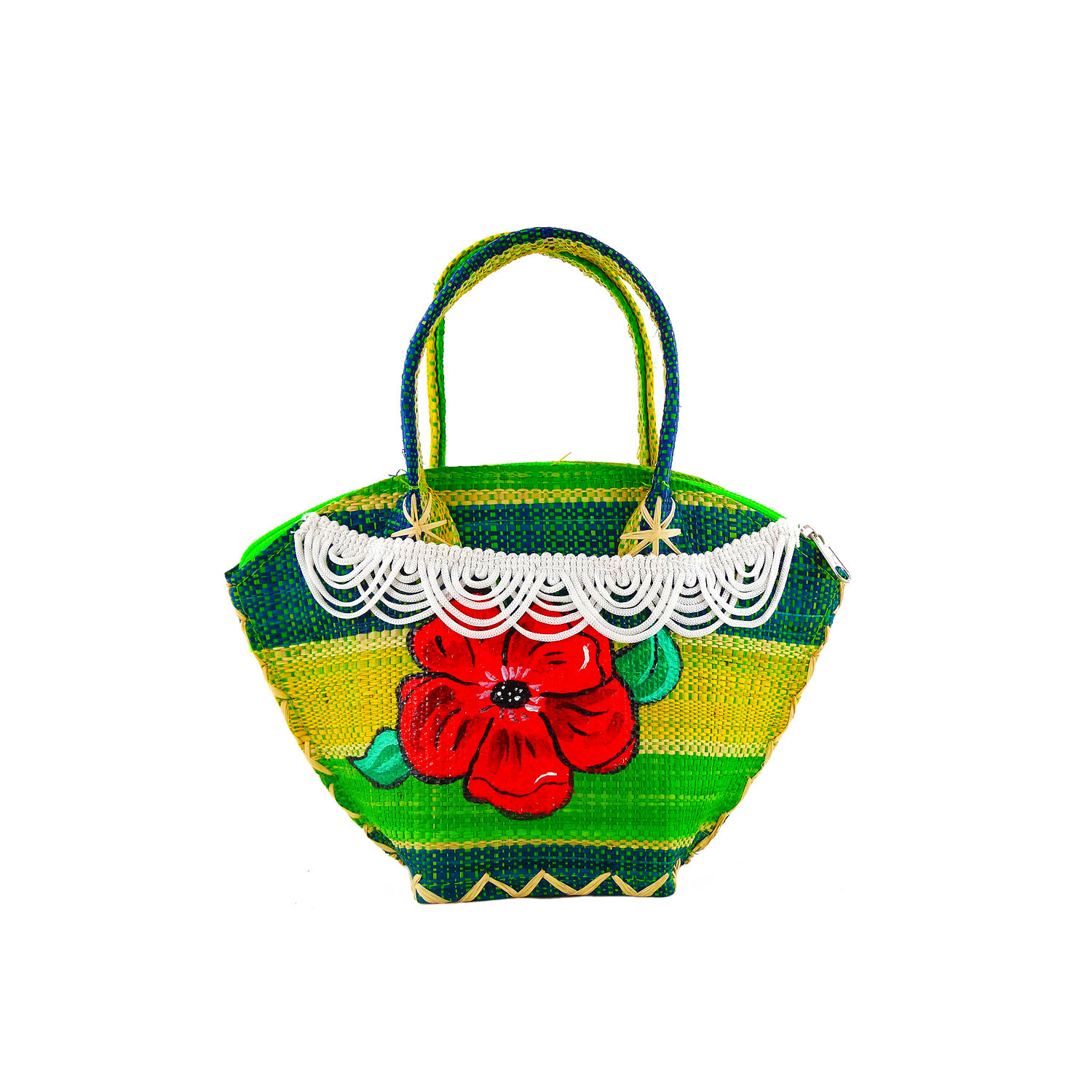 Handpainted Handbag - Flower