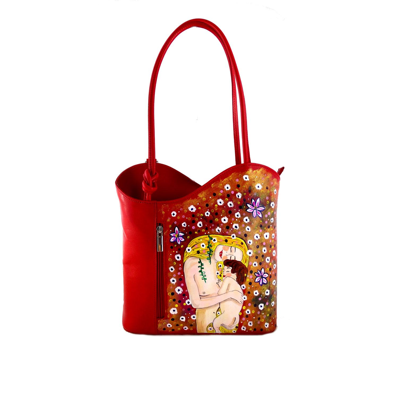 Borsa dipinta a mano – Madre e figlio di Klimt