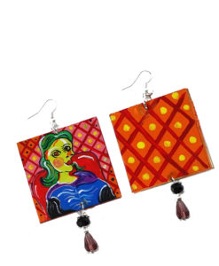 Orecchini dipinti a mano –Ritratto di Dora Maar di Picasso