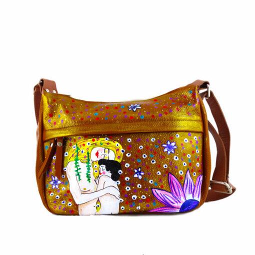 Borsa dipinta a mano -Madre e figlio di Klimt