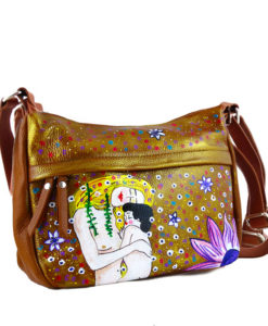 Hand painted bag - Mother and son by Klimt