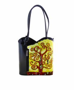Borsa dipinta quadrifamosi – L' albero della vita di Klimt